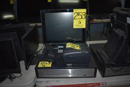 Sistema de cobro que incluye: Monitor con panel touch con sistema digitalizado para cobro