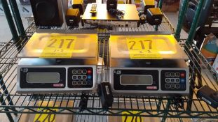 Dos básculas básculas electrónicas marca Torrey, Modelo: L-EQ 5/10
