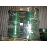 Skid of Plastic Strapping Model MPC172TG9000PL, 28 Rolls   Rig Fee: $50