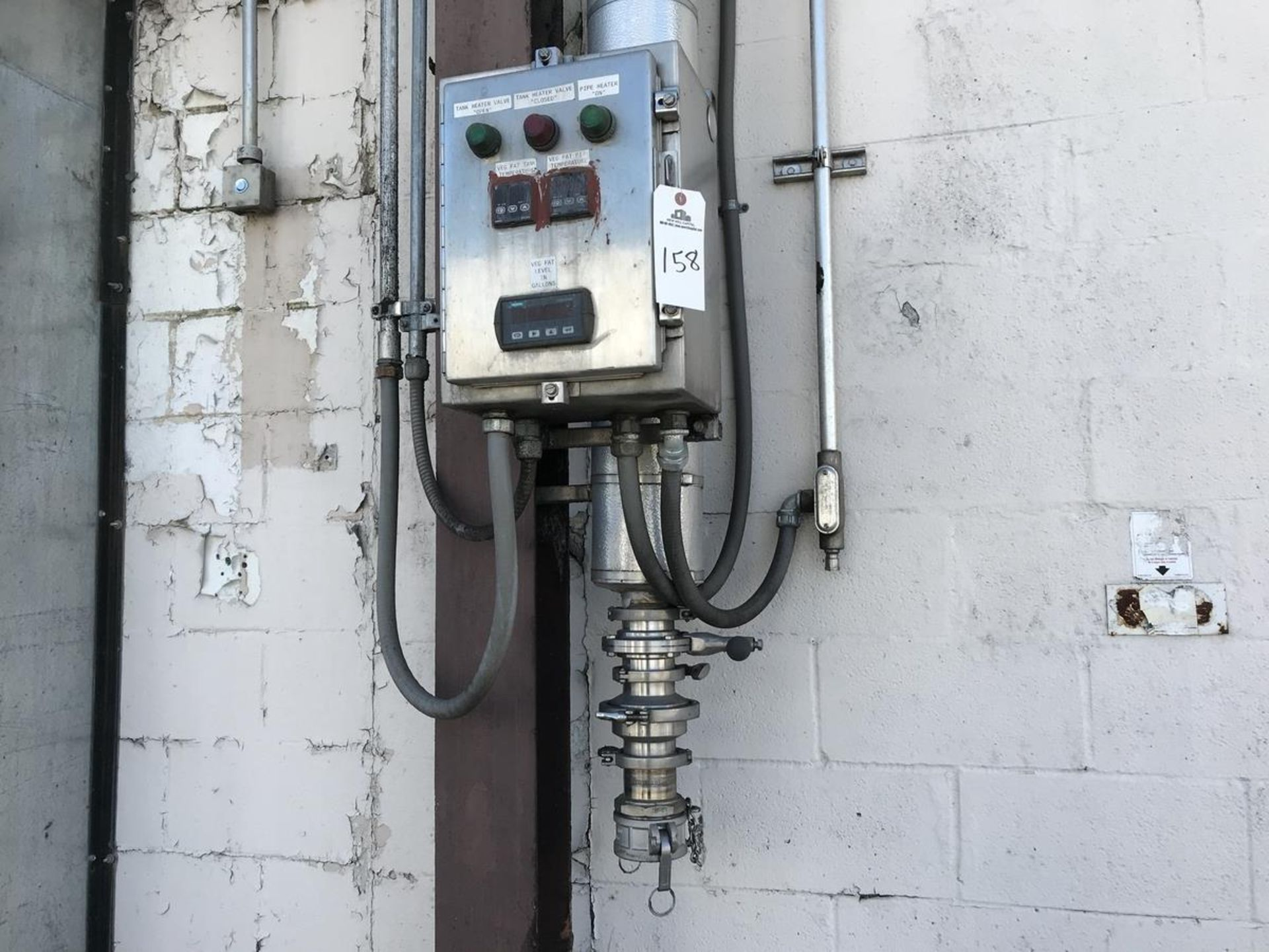 Lot 158 - Filling Control Panel with Check Valve and Butterfly Valve | Rig Fee: $150
