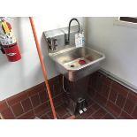 Stainless Steel Sink with Foot Controls, Water Heater, Paper Towel Dispenser | Rig Fee: $150