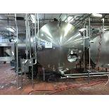 Mueller 2,000 Gallon Stainless Steel Horizontal Tank, Ammonia Jacket, Vertical Ag | Rig Fee: $1500