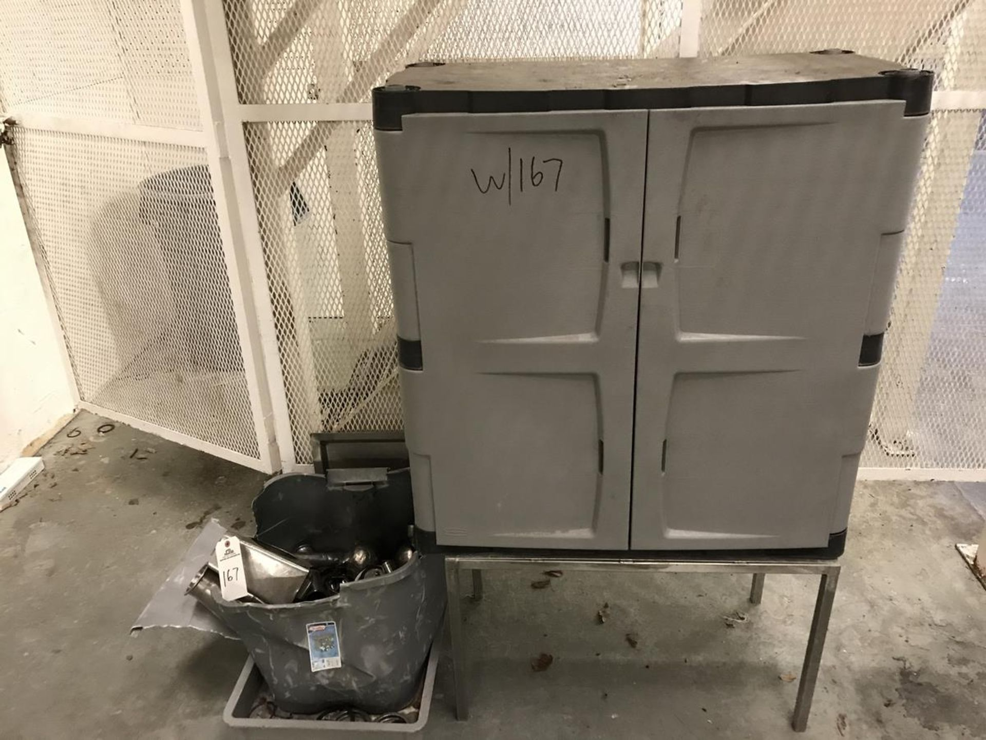 Lot 167 - (1) Cabinet, (1) Tray, Stainless Steel Fittings | Rig Fee: $100