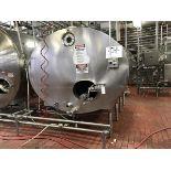 2,000 Gallon Stainless Steel Horizontal Tank, Ammonia Jacket, Vertical Agitation, | Rig Fee: $1250