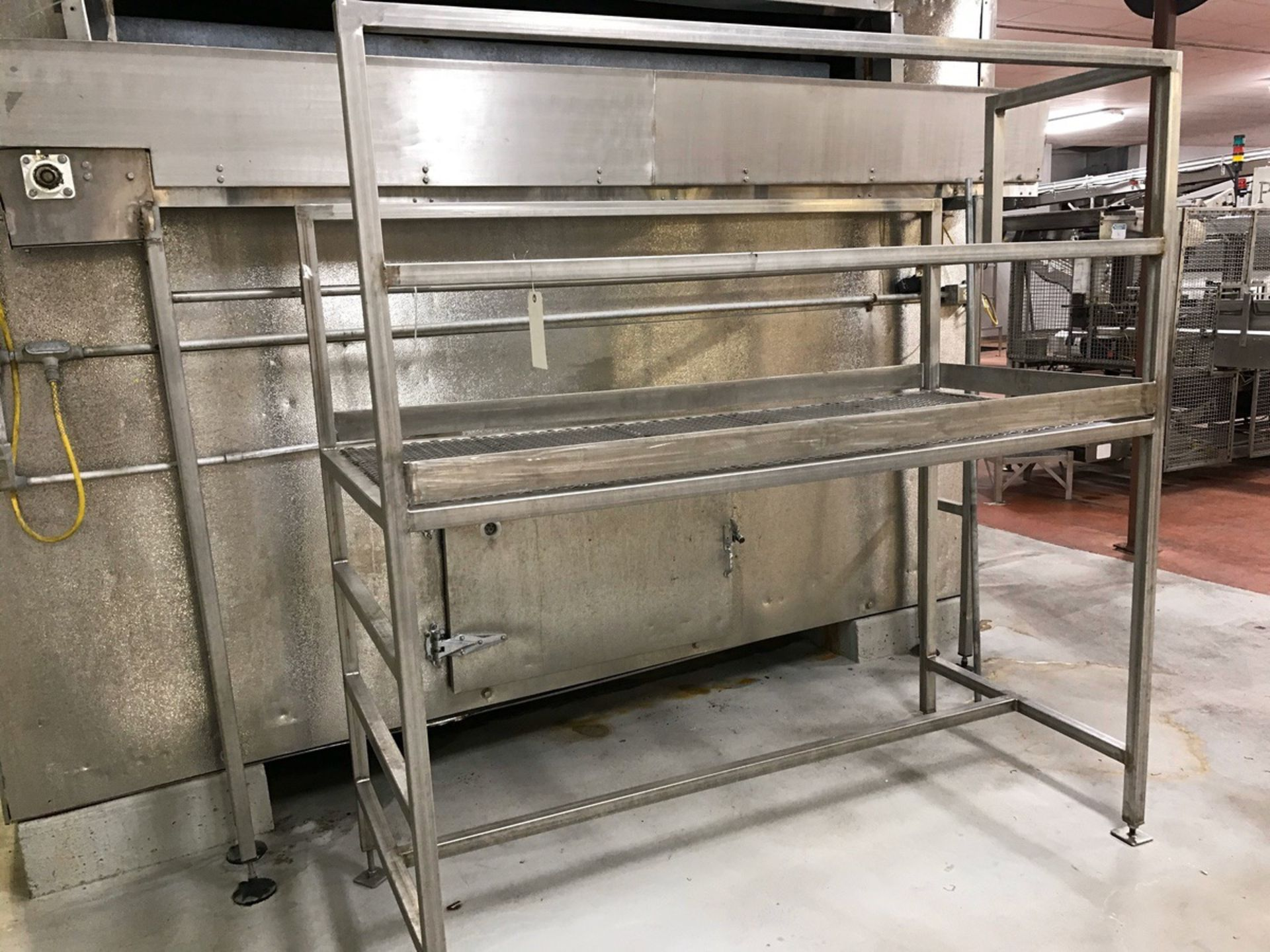 Lot 150 - 32in x 72in Stainless Steel Inspection Platform | Rig Fee: $100