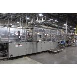 Douglas CMWACP Wrap Around Tray Packer and Bundler, S/N M102053/M102054, Includes Heat Shrink Tunnel