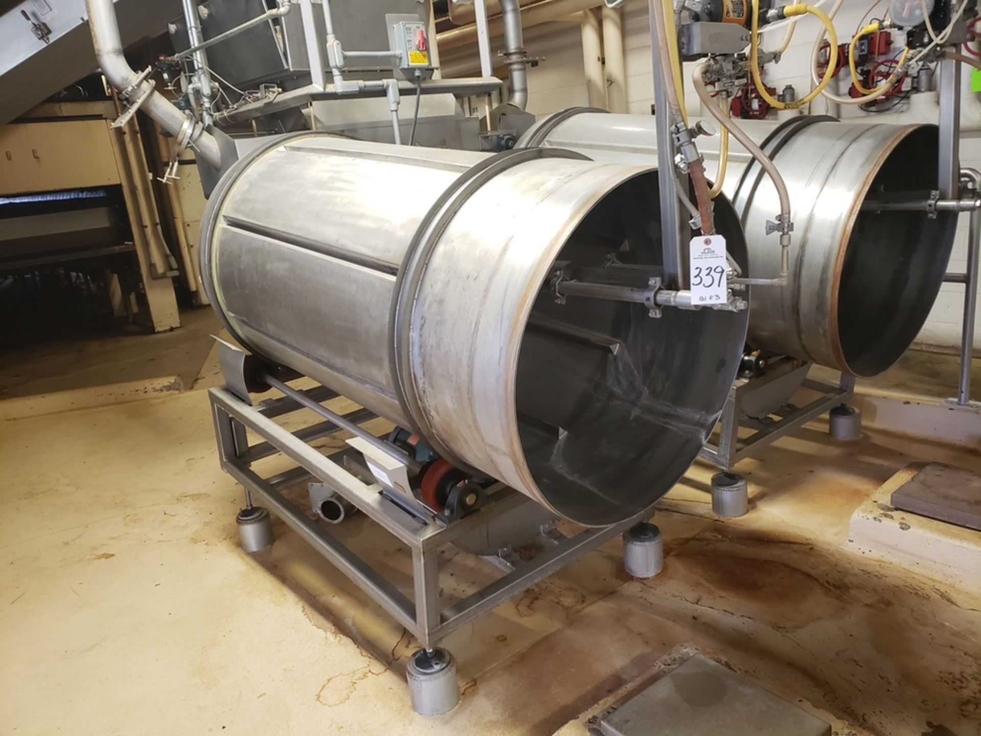 Lot 339 - Stainless Steel Glazing Tumbler   Rig Fee: $600
