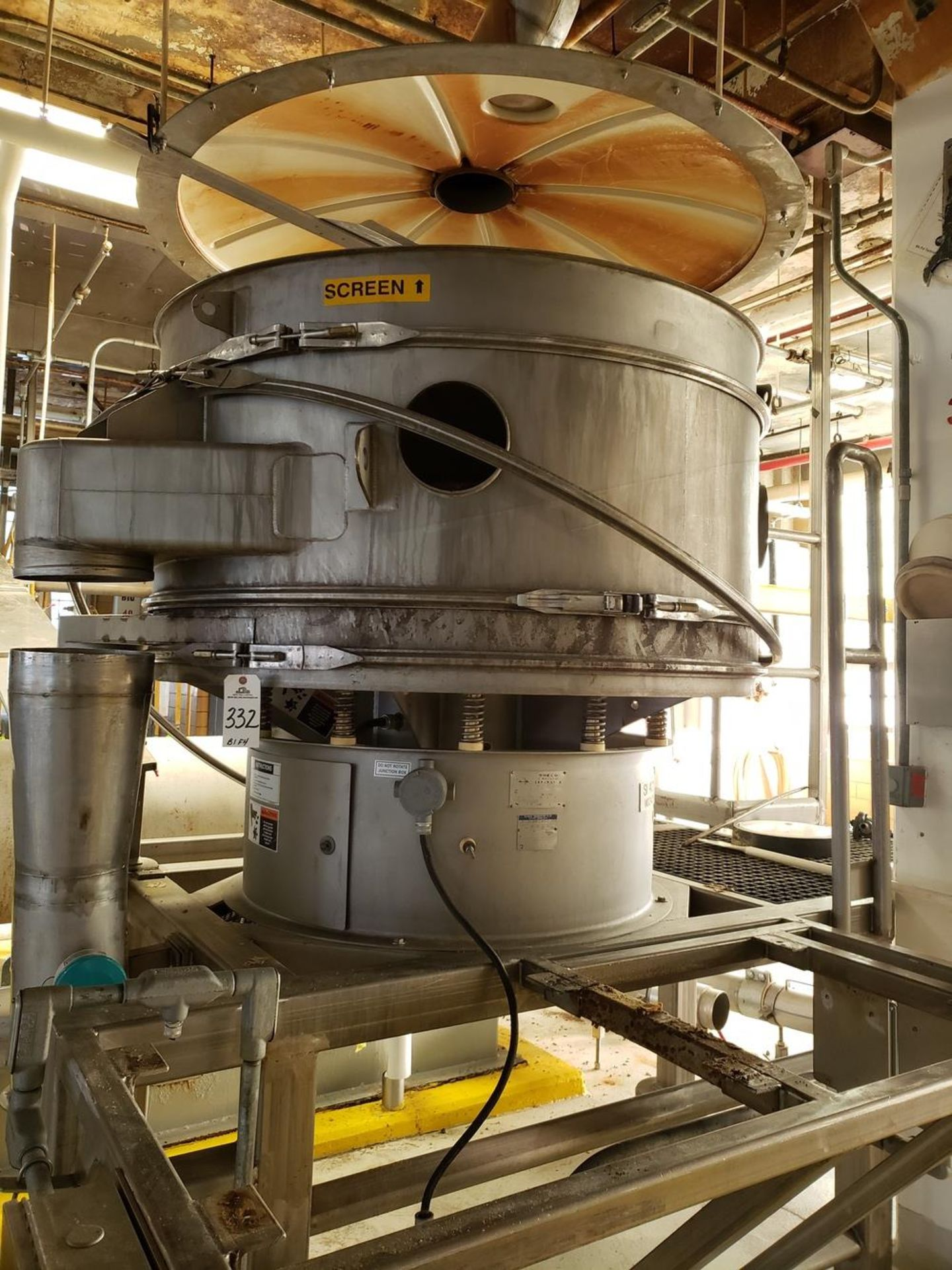 Lot 332 - Sweco Separator Sieve, M# XS60S41866, S/N 786739-A0601 | Rig Fee: $600