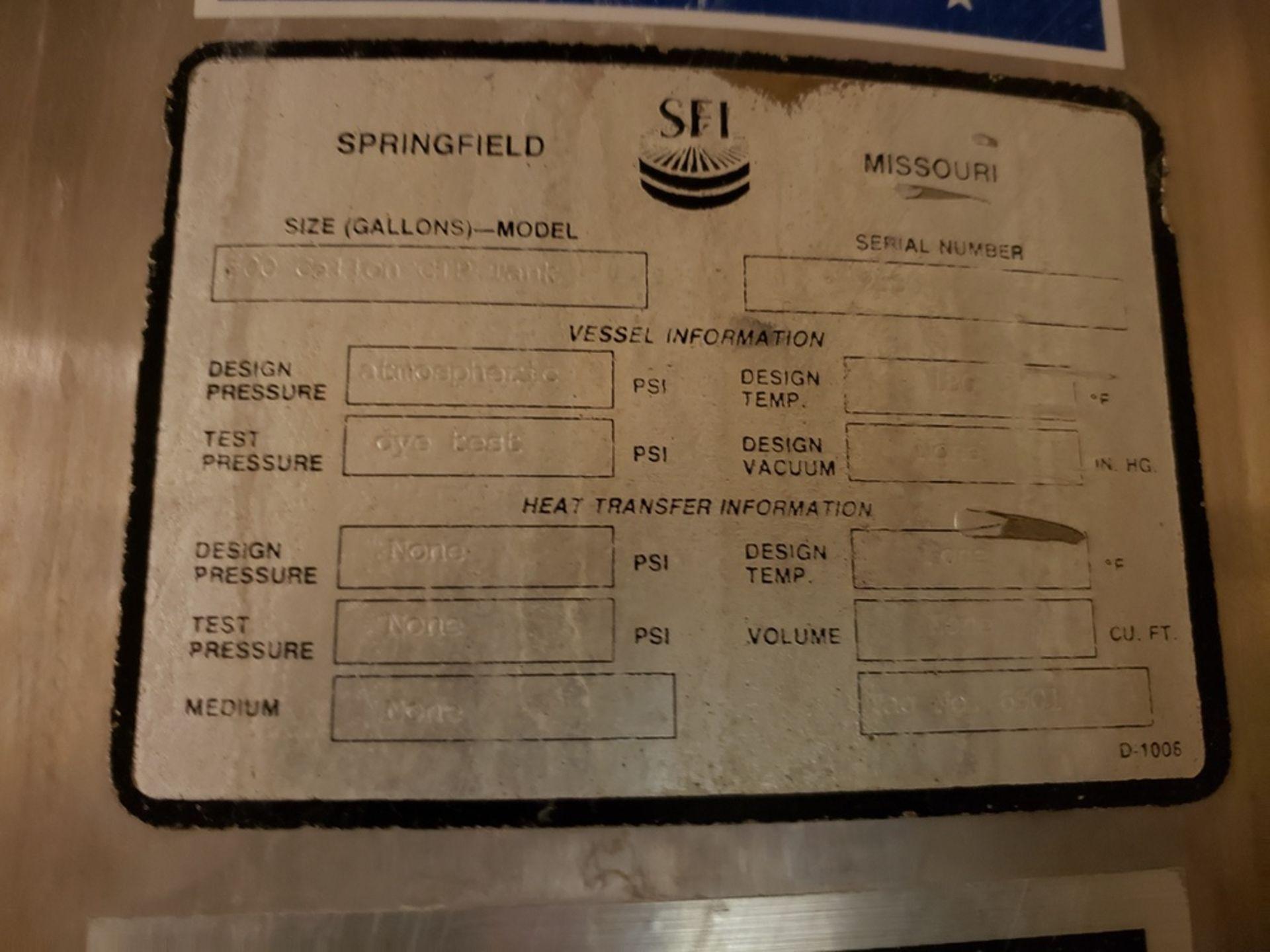 Lot 441 - SFI 500 Gallon Agitated Mix Tank | Rig Fee: $600