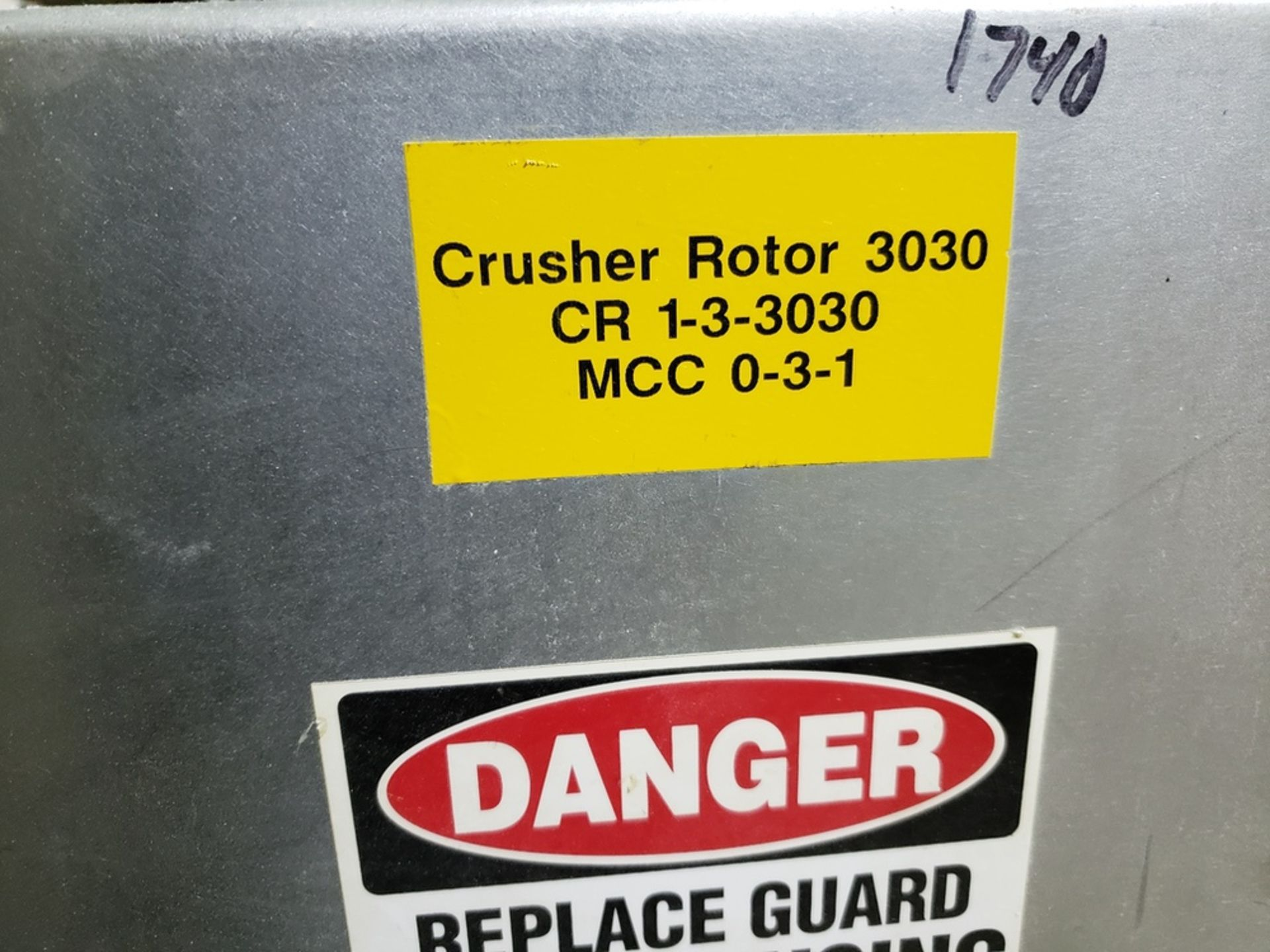 Lot 127 - M&P Roto-Crusher Mill, S/N 18662, W/ Eriez Magnet Trap   Rig Fee: $375