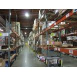 """(71) Sections of Adjustable Pallet Shelving Including (77) 16' x 44"""" Uprights, (38   Buyer to Remove"""