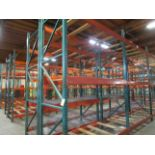 """(32) Sections of Adjustable Pallet Shelving Including (40) 12' x 44"""" Uprights, , (   Buyer to Remove"""