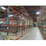 """(71) Sections of Adjustable Pallet Shelving Including (74) 16' x 44"""" Uprights, (9)   Buyer to Remove"""