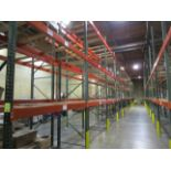 """(62) Sections of Adjustable Pallet Shelving Including (66) 16' x 44"""" Uprights, (6)   Buyer to Remove"""
