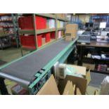 "18"" x 15' Power Conveyor with Roller Conveyor   Rig Fee: $100"