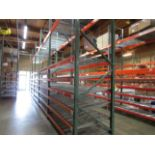 """(20) Sections of Adjustable Pallet Shelving Including (24) 16' x 44"""" Uprights, (12   Buyer to Remove"""