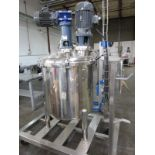 Approx. 75 Gallon Stainless Steel High Polish Twin Agitated Vessel, (2) Mixer/Agitat   Rig Fee: $300