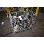 (6) Pneumatic Chain Hoists w/ Wire Tote