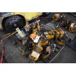 (3) Harrington Chain Hoists, Rated 1 Ton Capacity