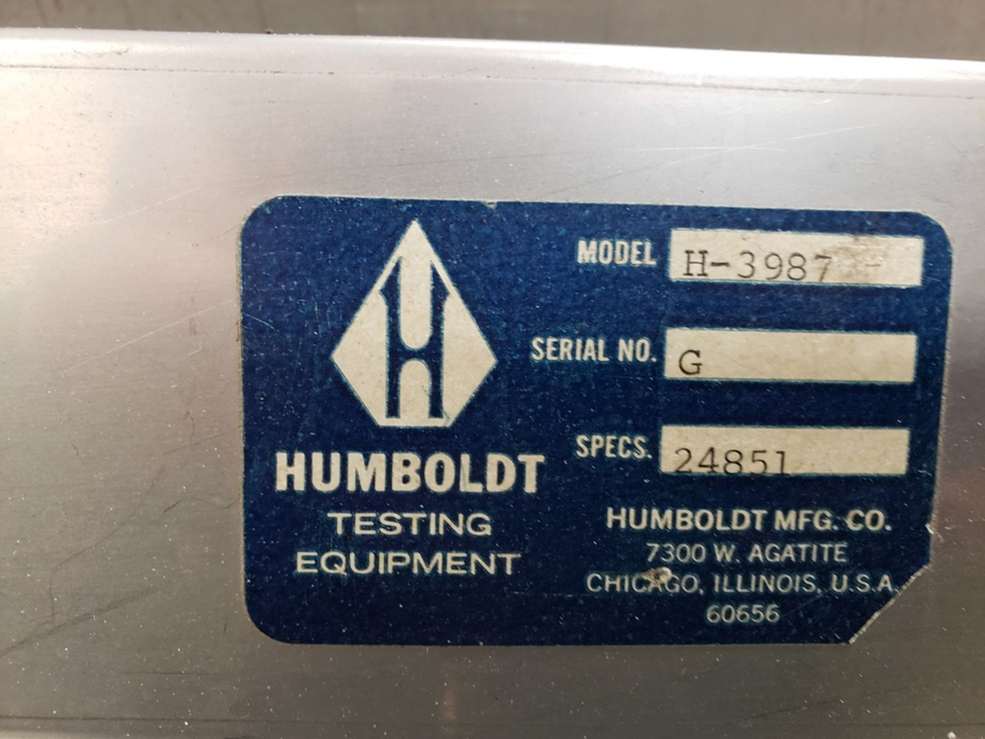 Lot 1063 - Humboldt Sample Splitter, M# H-3987 | Rig Fee: Hand Carry or Contact Rigger