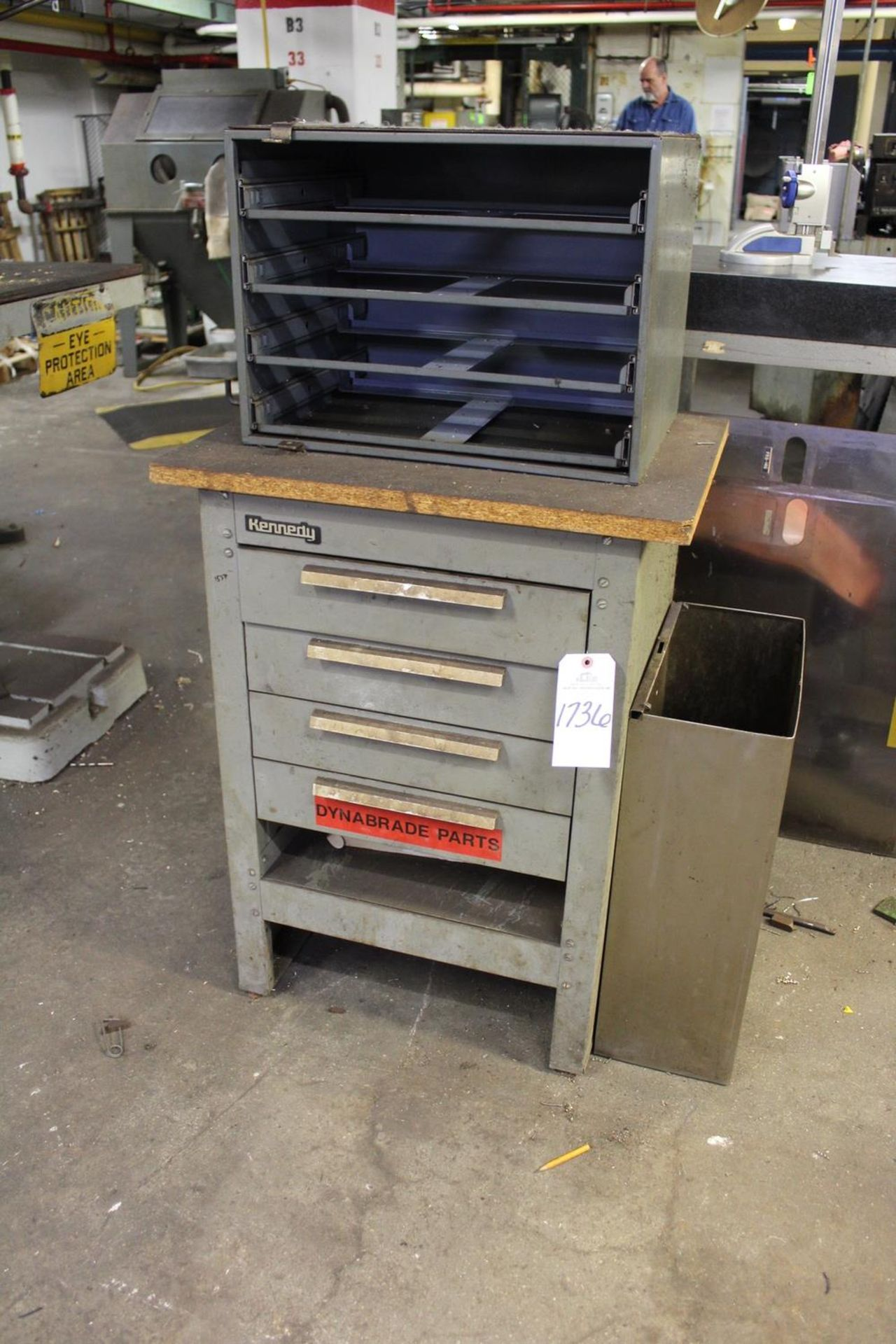 Lot 1736 - Storage Cabinet W/Contents | Rig Fee: Hand carry contents only or Contact Rigger