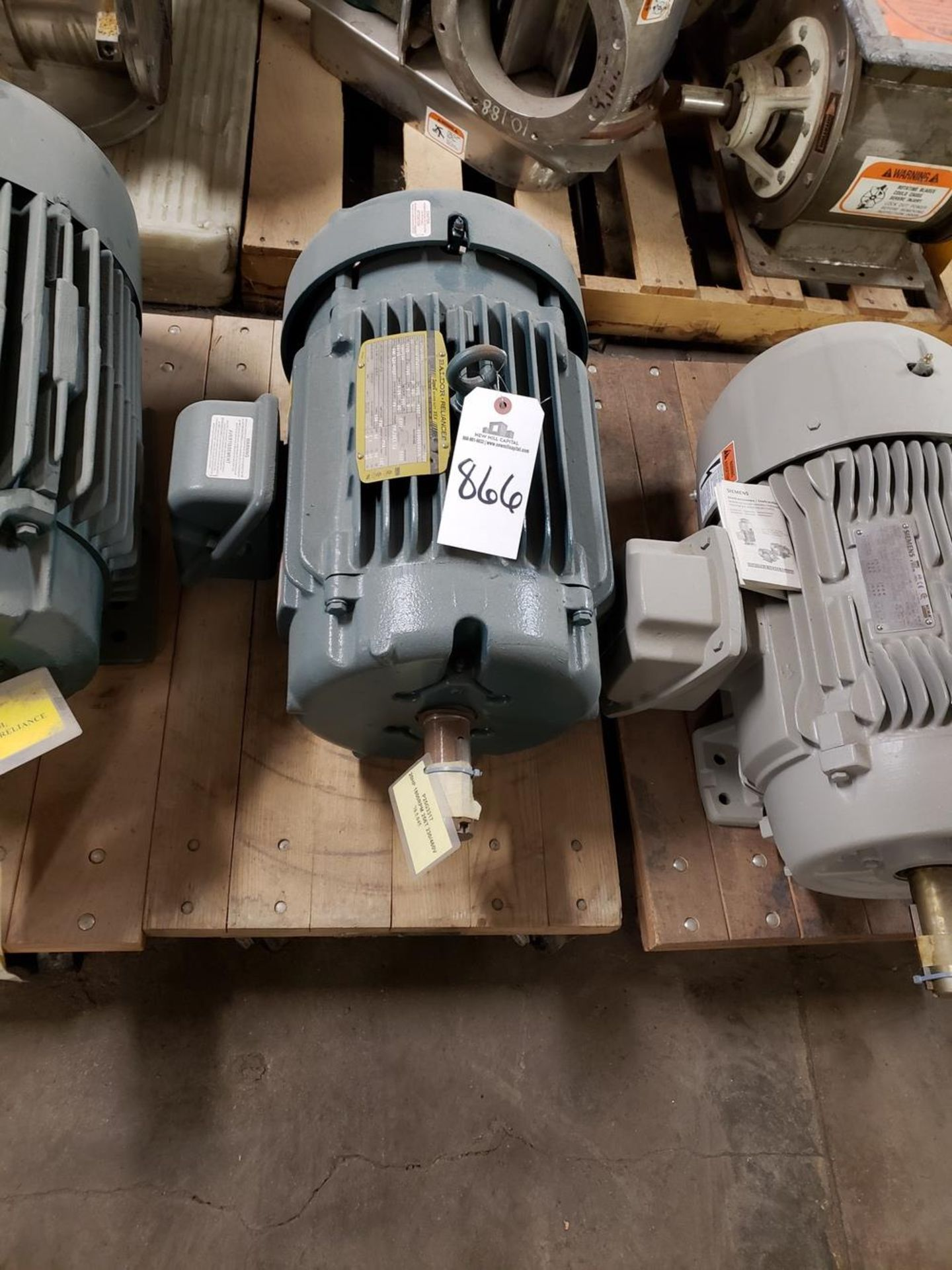 Lot 866 - Baldor Electric Motor, 10 HP - Subject to Bulk Bid Lot 845B -The Greater of th | Rig Fee: No Charge