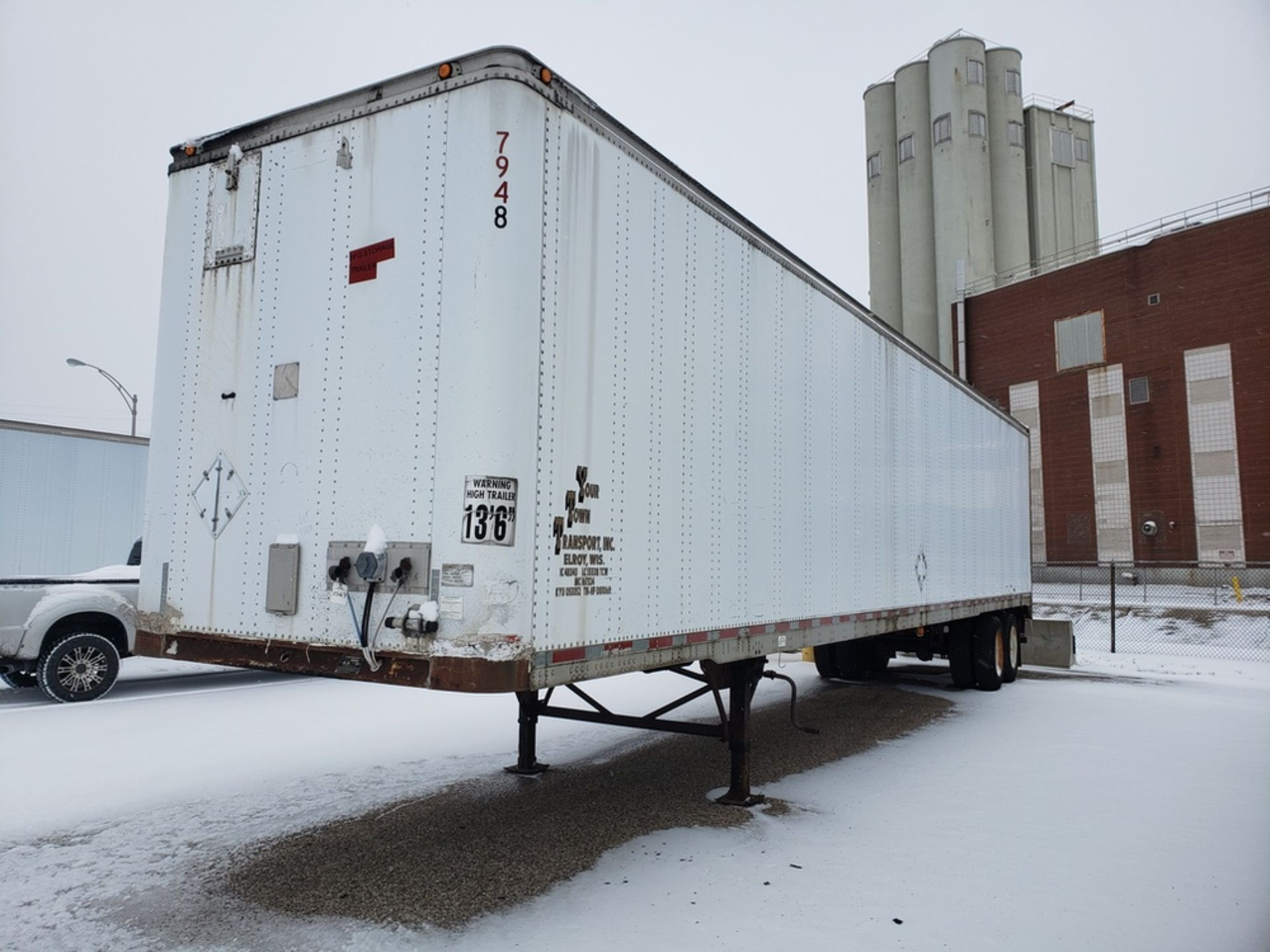 Lot 1569 - 53 Ft. Trailmobile Storage Trailer, (No Title Available | Rig Fee: Buyer to Remove