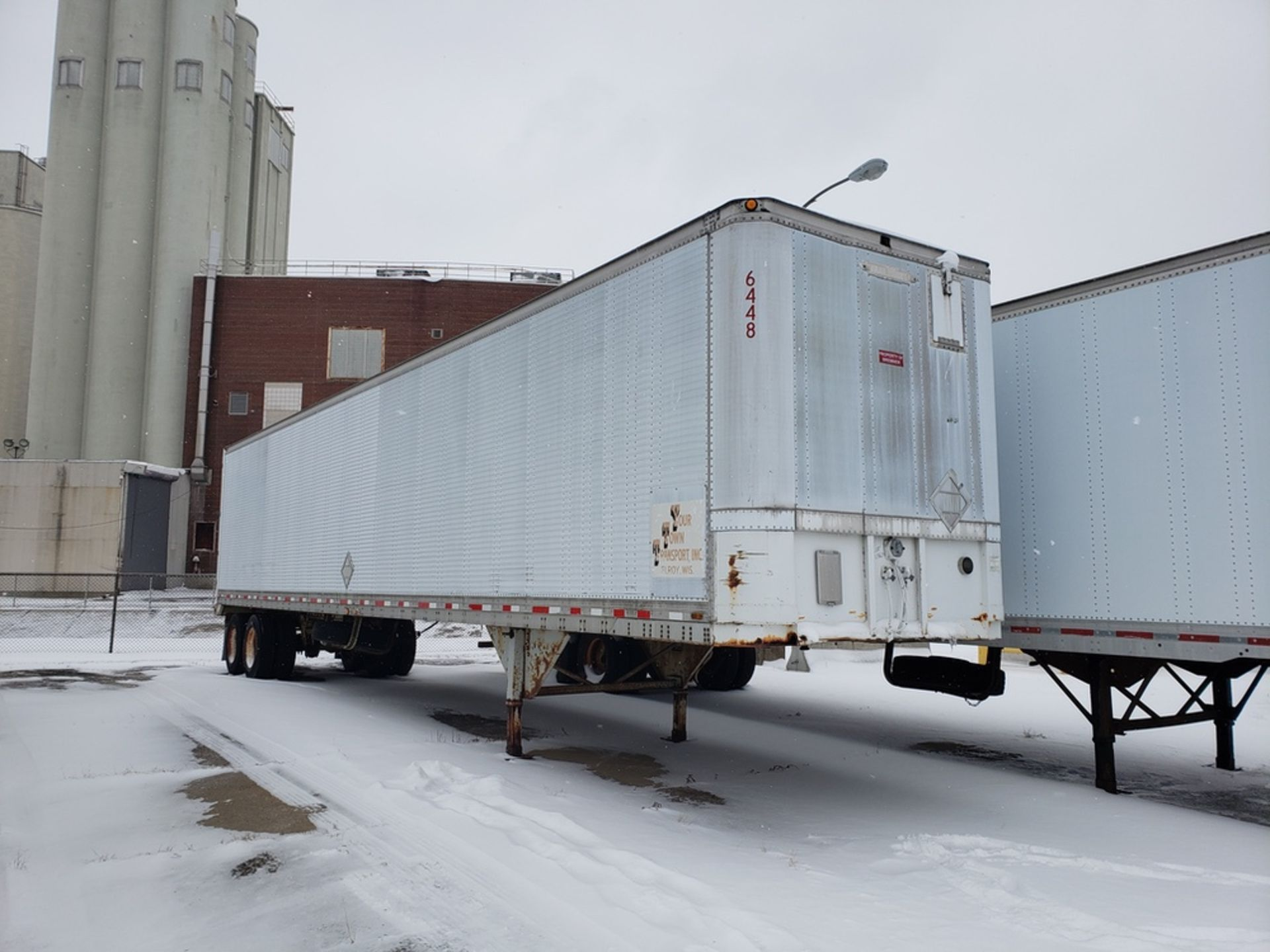 Lot 1567 - 53 Ft. Trailmobile Storage Trailer, (No Title Available | Rig Fee: Buyer to Remove
