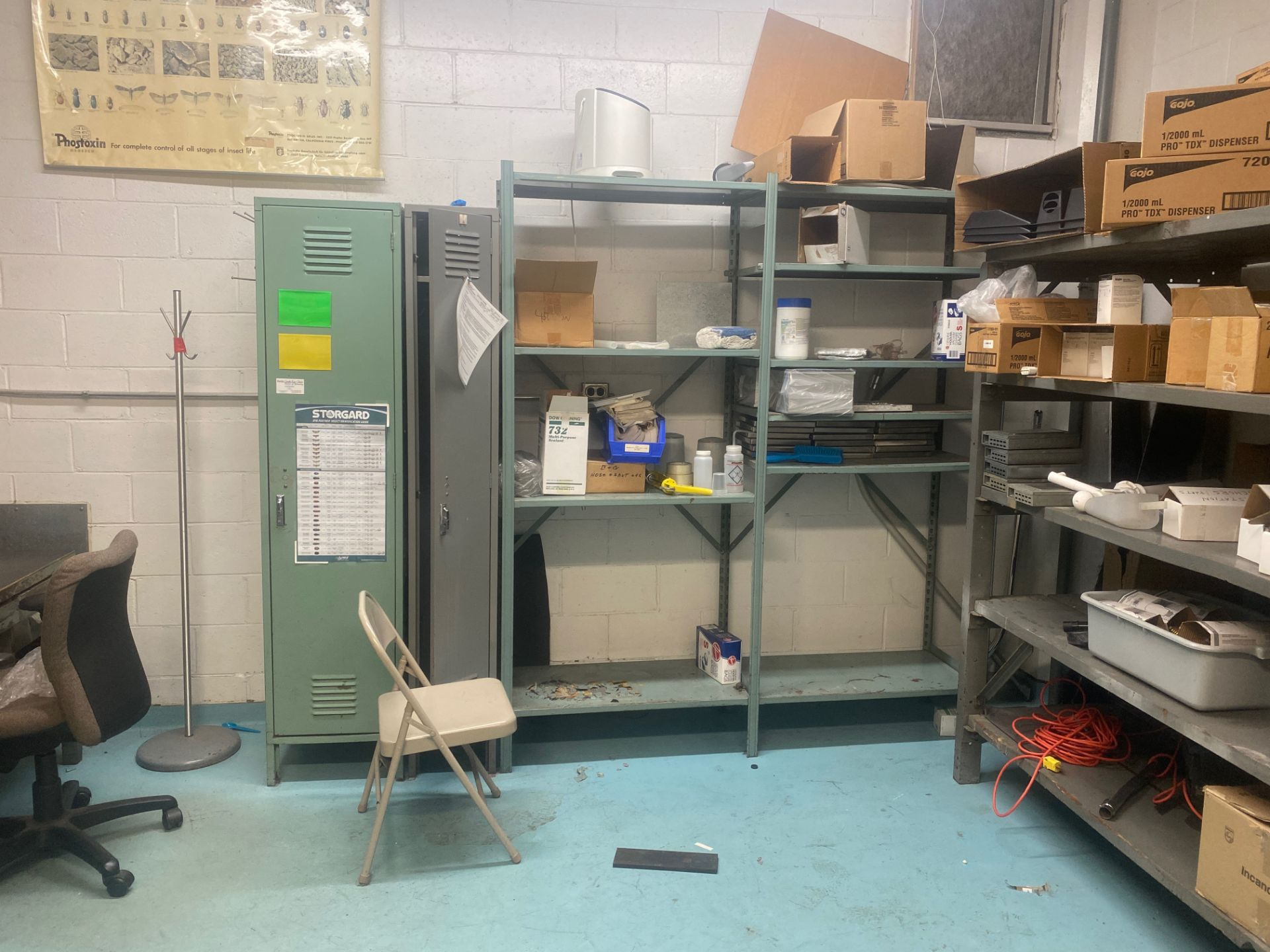 Lot 1490 - Contents of Sanitation Storeroom | Rig Fee: Hand Carry or Contact Rigger