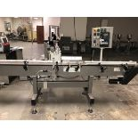 """Universal Pressure Sensitive Wrap Around Bottle Labeler With 12' Of 4-1/2"""" Convey   Rig Fee: $175"""
