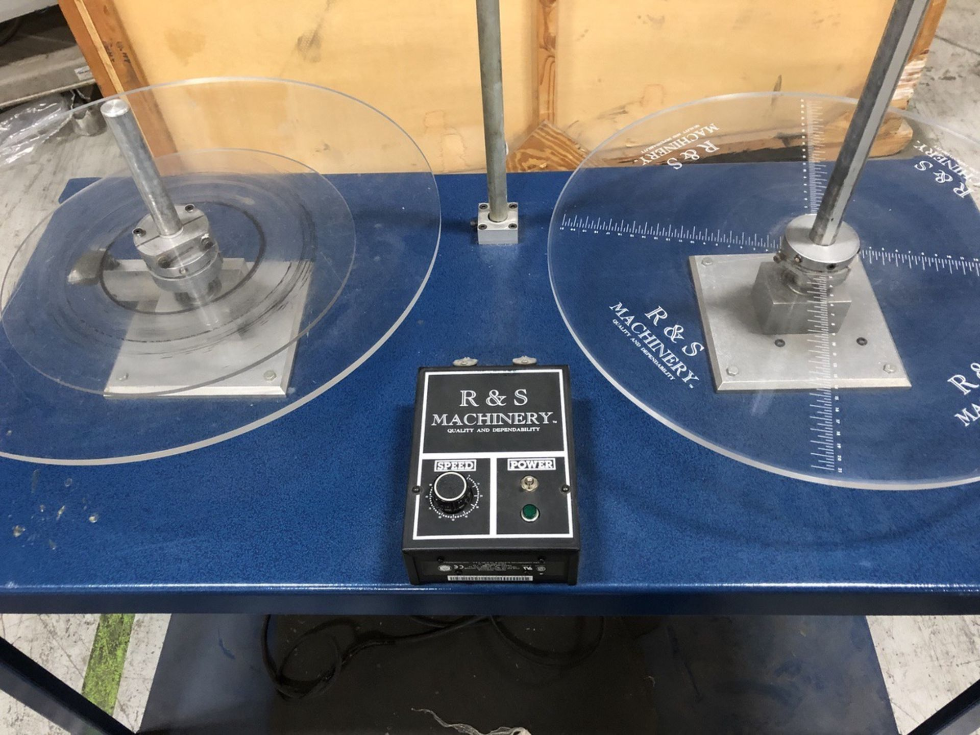 Lot 41 - R&S Machinery Label Rewind Station   Rig Fee: $10