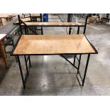 (9) Wood Pack Off Table With Black Mild Steel Frame   Rig Fee: $0