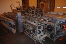 "Straight Line Pie Filler, with 9"" and 7"" Round Plates, with drives and chains 