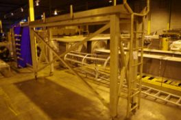 Stainless Steel Rolling Walkway with Ladder, approx. 7' H x 3' W x 13' L, and Stain | Rig Fee: $50