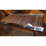 """Stainless Steel Roller Outfeed Table, approx. 5'L x 30"""" W   Rig Fee: $50"""