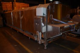 "Advance stainless steel Nitrogen Tunnel, 48"" W stainless steel belt. Intake opening 