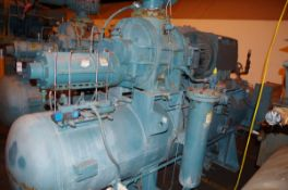 Frick 500HP Rotary Screw Ammonia Compressor, Model RWB II 222H, S/N S0623RFMCTHA003 | Rig Fee: $1000