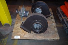 (2) Blower Fan Units, 1.2kW 265/460V 3 phase, and 3/4HP Dayton fan motor, 115V | Rig Fee: $50
