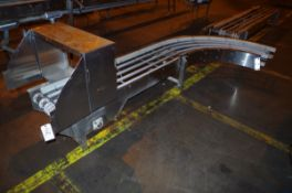 (2) Stainless Steel Conveyor Frame units, 1 straight and 1 90 degree turn, each app | Rig Fee: $50