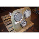 Gauge plate with (3) Ammonia Vacuum Pressure Gauges, 30-150/30-300 PSI   Rig Fee: $50