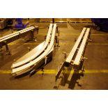 (4) Stainless Steel Conveyor Frame Units, 1 90 degree turn, 2 45 degree turns, 1 st   Rig Fee: $150