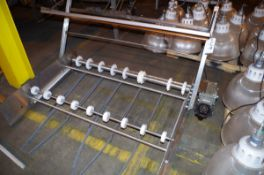 (2) Stainless Steel Infeed/Outfeed Conveyor Attachments | Rig Fee: $50