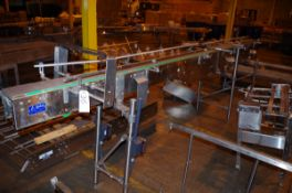 Sidel Stainless Steel Conveyor, approx. 14' L, and accessory | Rig Fee: $50