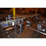 Sidel Stainless Steel Conveyor, approx. 14' L, and accessory   Rig Fee: $50