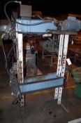OTC 25 Ton Hydraulic Shop Press Frame, S/N 1833, with G.E. 1HP motor | Rig Fee: $50