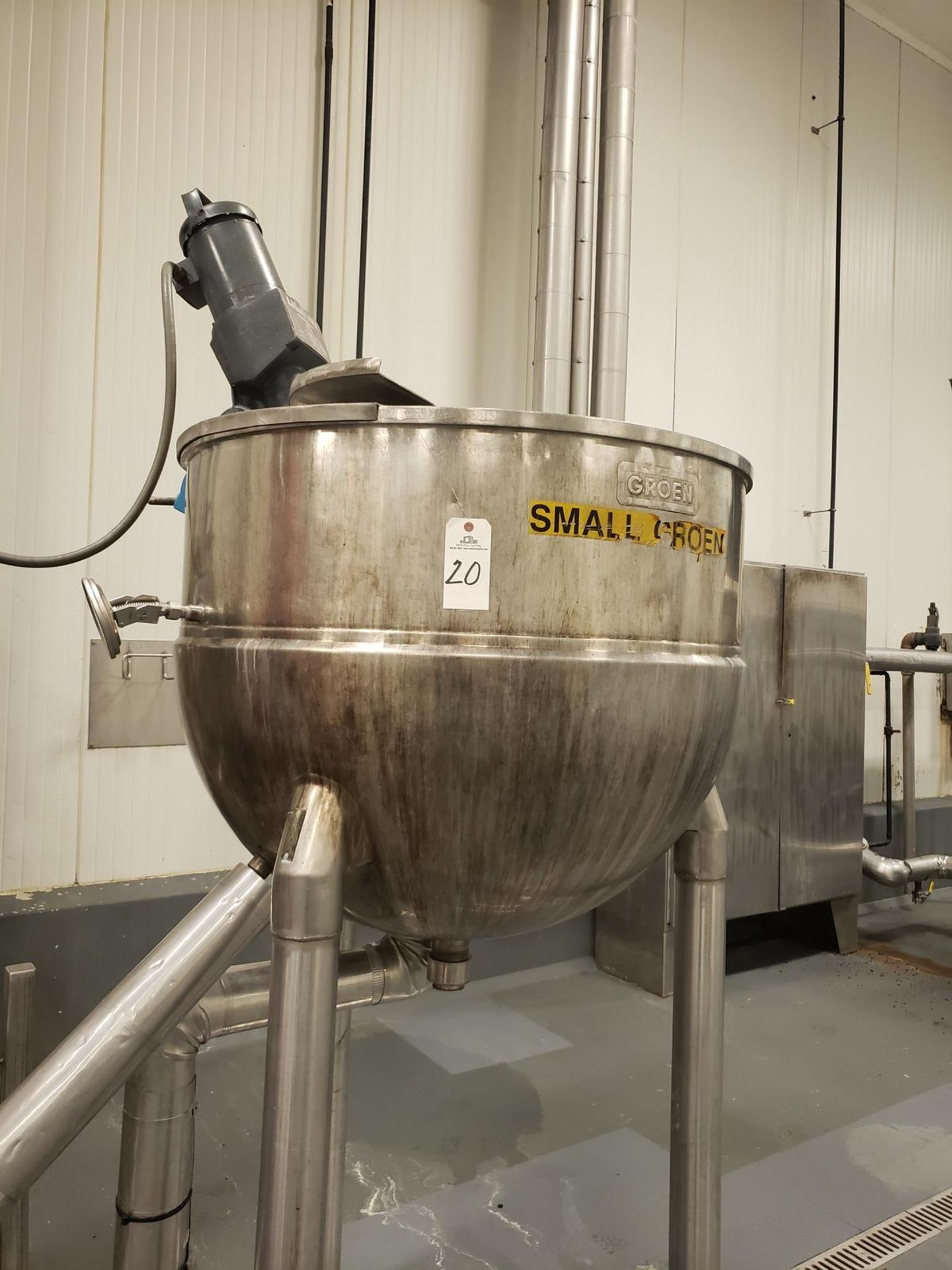 Lot 20 - Kettle - Groen 150 Gallon Jacketed, Agitated Mixing Kettle, M# N150SP - Loc: NJ | Rig Fee: $300