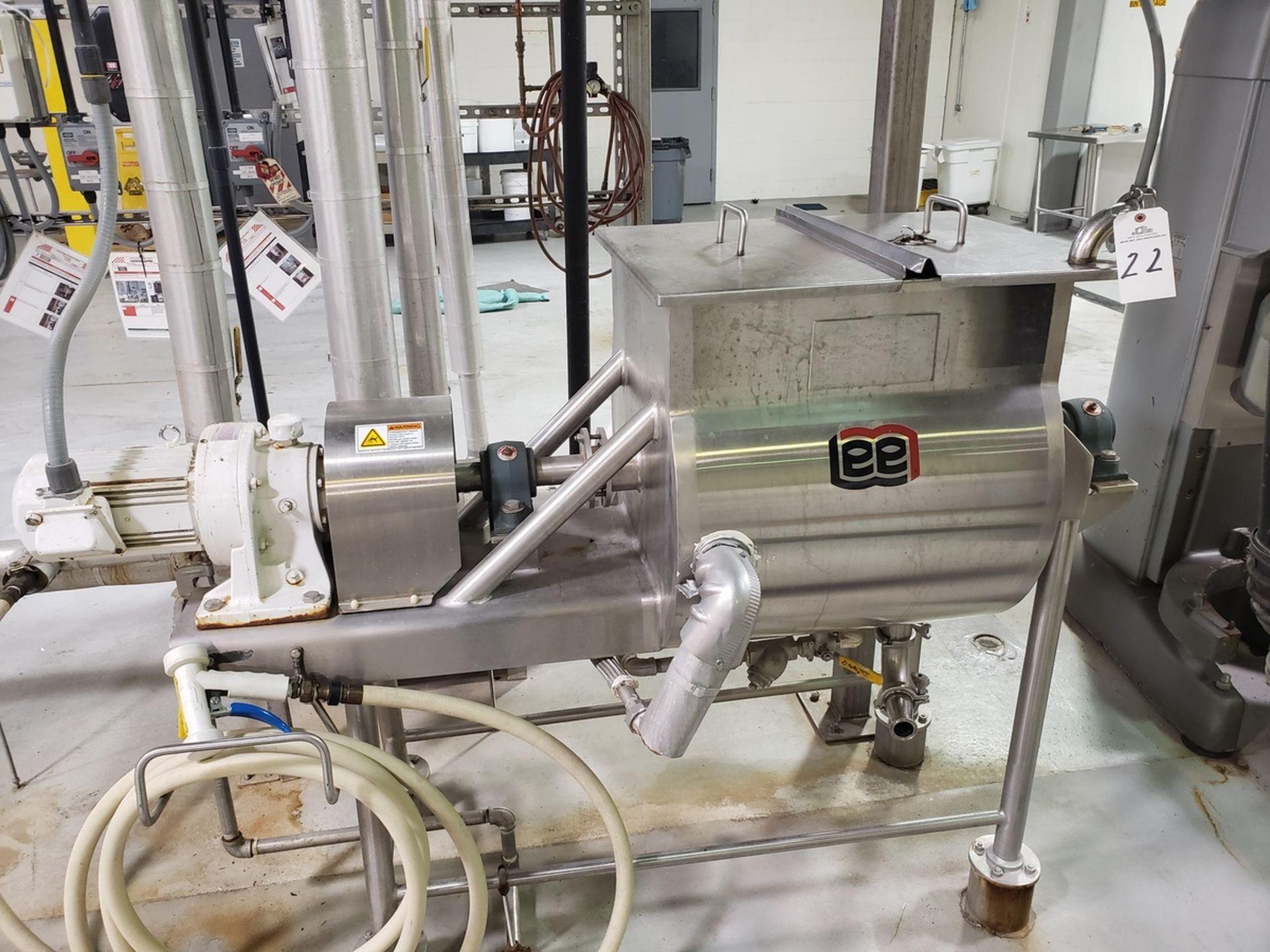 Lot 22 - Ribbon Blender - Lee Industries 25 Gallon Scraped Surfaced, Jacketed Ribb - Loc: NJ   Rig Fee: $100