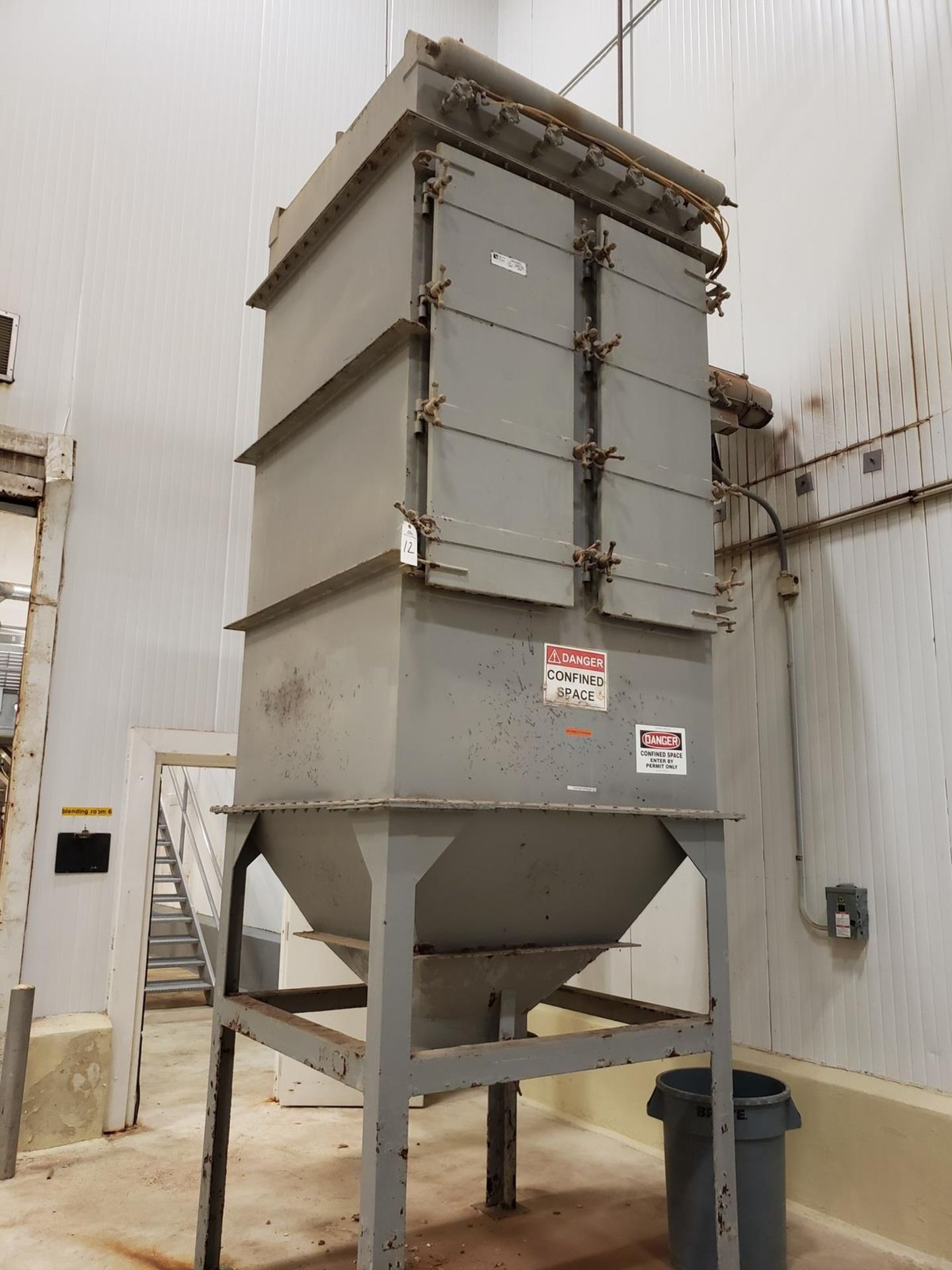 Lot 12 - Beckert & Hiester Pulsation Cleaned Bag House, M# 7-490-49-84S-3G - Loc: NJ | Rig Fee: $500