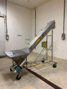 Stainless Steel Hopper / Incline Auger Conveyor, 7' Floor to Bottom Of Dis - Loc: NJ | Rig Fee: $125