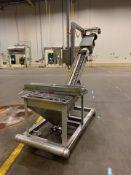 Flexicon Style Stainless Steel Hopper / Flexible Incline Auger Conveyor, 7 - Loc: NJ | Rig Fee: $125